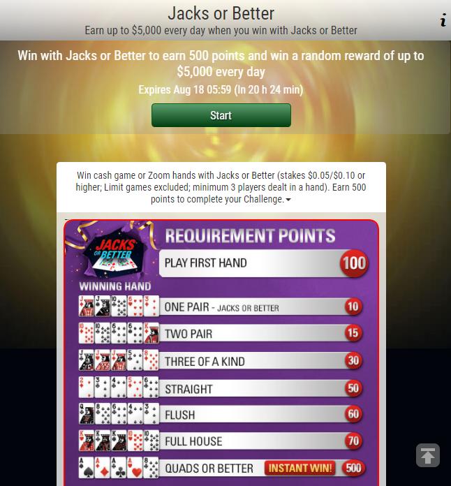 Jacks or Better Poker Challenge