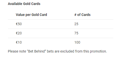 unibet gold cards 1