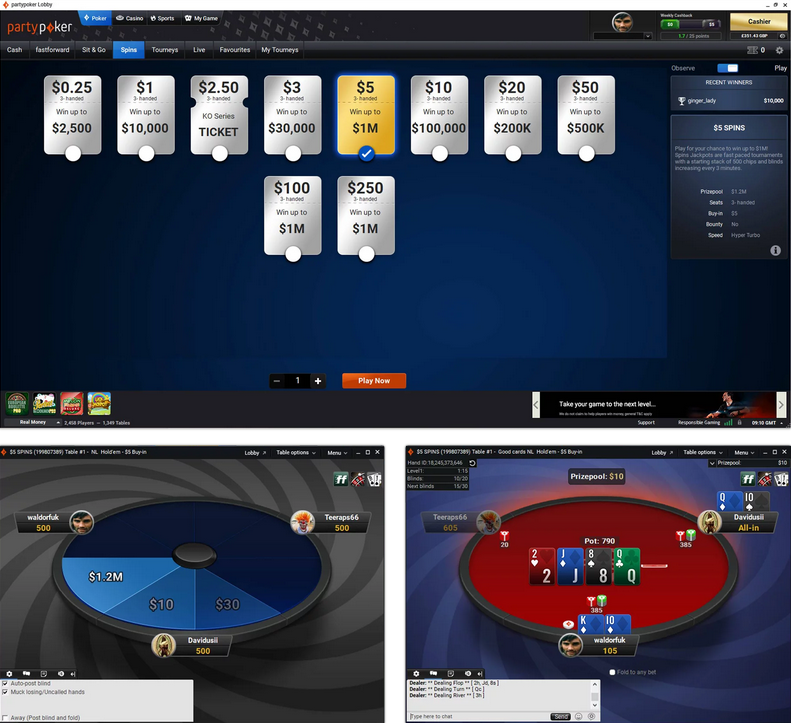 partypoker celebrates SPINS 2