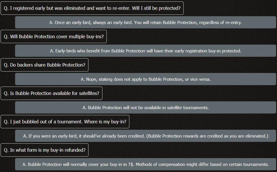 Bubble Protection FAQ
