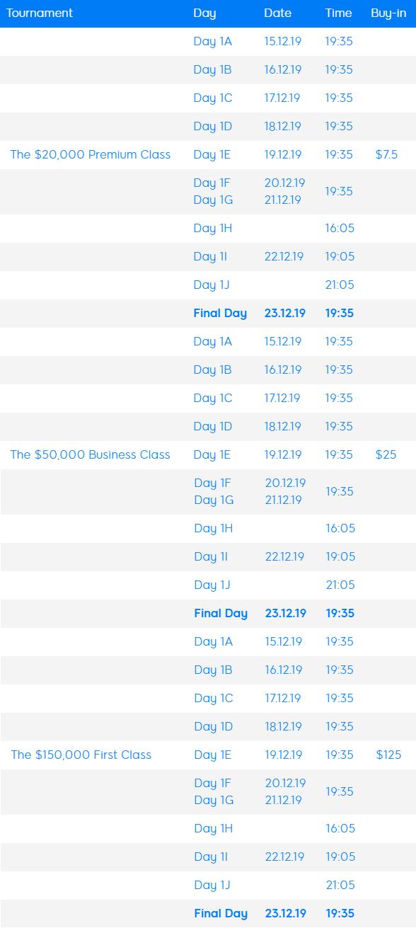 terminal schedule