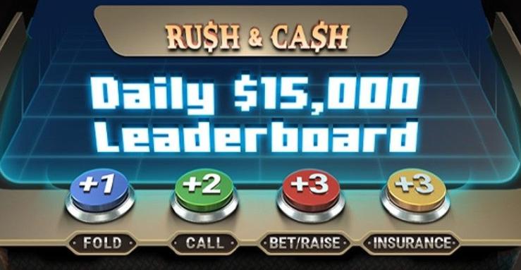 Rush & Cash Daily 15K Leaderboard